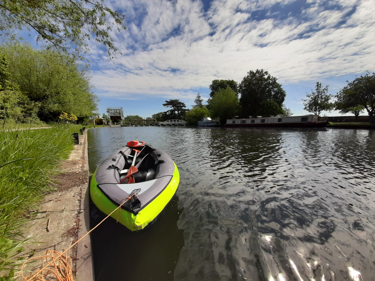 Kayak picture at the Baits Bait Lock